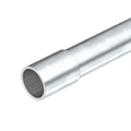 Electrogalvanised steel pipe, with thread